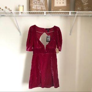 NWT Forever 21 Velvety Peasant Cottagecore Dress